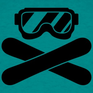 snowboard goggles goggle equipment eyes snowboard  T-Shirts - Men's T-Shirt