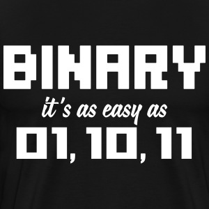 Binary it's as easy as 01, 10, 11 T-shirts - Mannen Premium T-shirt