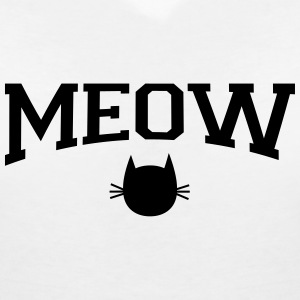 Meow T-Shirts - Women's V-Neck T-Shirt