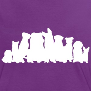 Dogs T-shirts - Vrouwen contrastshirt