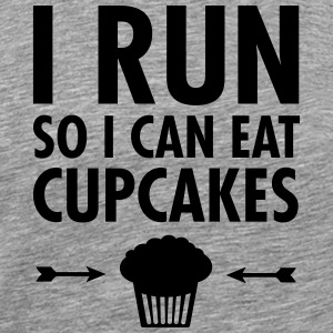 I Run So I Can Eat Cupcakes T-Shirts - Männer Premium T-Shirt