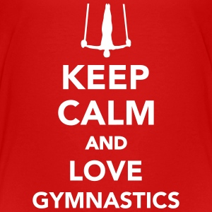 Keep calm and love gymnastics T-Shirts - Kinder Premium T-Shirt