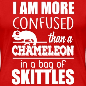 I'm confused like an cameleon in a bag of skittles T-shirts - Dame premium T-shirt