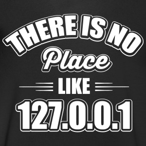 there's no place like 127.0.0.1 T-shirts - Mannen T-shirt met V-hals