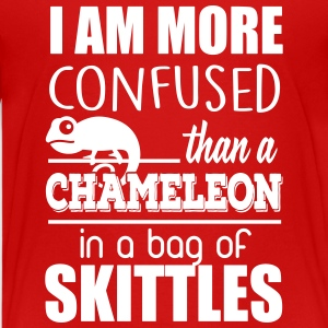 I'm confused like an cameleon in a bag of skittles T-shirts - Teenager premium T-shirt