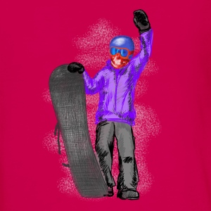 snowboarder Manches longues - T-shirt manches longues Premium Ado