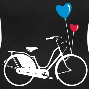 Fahrrad mit 2 Luftballons - Bike & Balloons  T-Shirts - Women's Scoop Neck T-Shirt