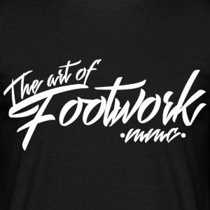 The art of footwork - white Magliette - Maglietta da uomo