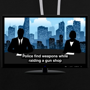 TV news - Weapons Hoodies & Sweatshirts - Contrast Colour Hoodie