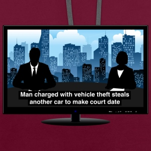 TV news - Theft Hoodies & Sweatshirts - Contrast Colour Hoodie