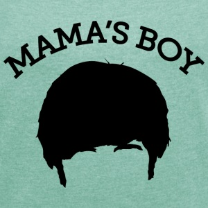 The Big Bang Theory Mama`s Boy Tee shirt Femme - T-shirt Femme à manches retroussées