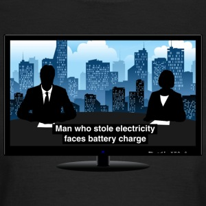 TV news - Electricity T-Shirts - Women's T-Shirt