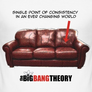 The Big Bang Theory Sheldon's Couch Slim Fit T-skj - Slim Fit T-skjorte for menn