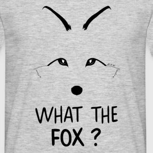 Tee-shirt homme renard what the fox ?  - T-shirt Homme