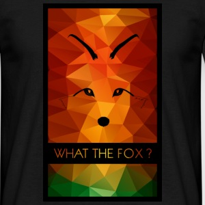 Tee-shirt homme renard what the fox ? multicolor - T-shirt Homme