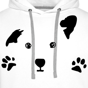 dog, puppy, dog face Sweat-shirts - Sweat-shirt à capuche Premium pour hommes