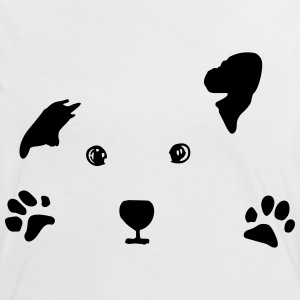 dog, puppy, dog face T-shirts - Vrouwen contrastshirt