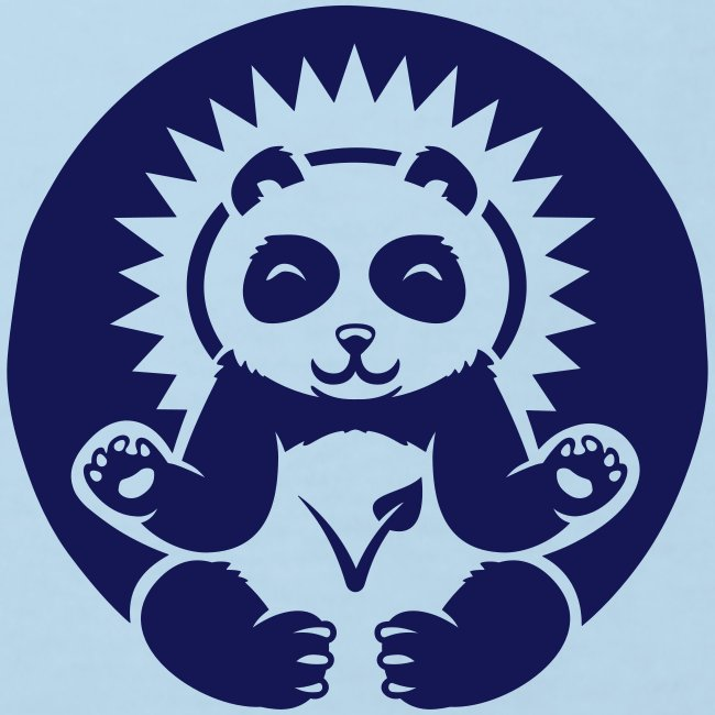 """Panda"" Kinder-Bio-T-Shirt mit Flockdruck"