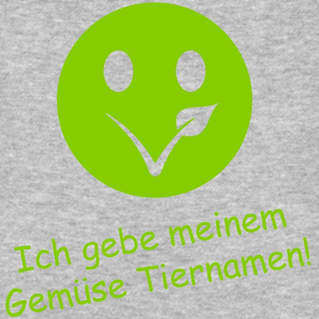 """Smiley"" Bio-T-Shirt mit Flexdruck (m)"