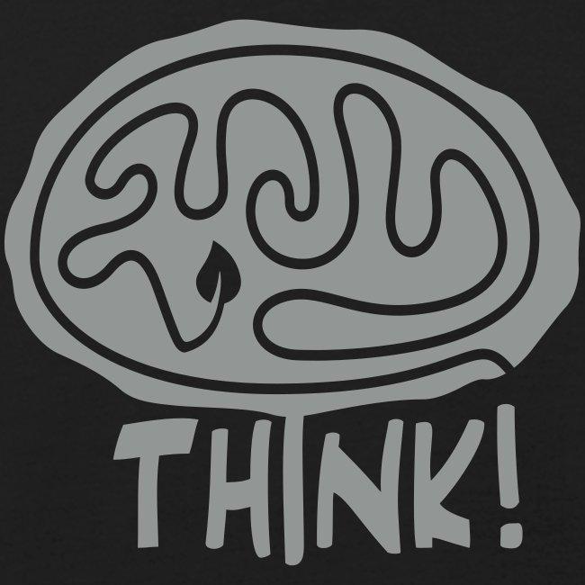 """""""Think"""" Bio-T-Shirt mit Flockdruck (m)"""