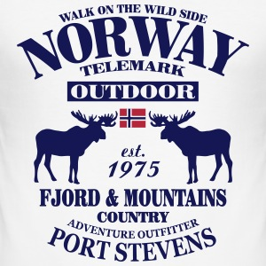 Moose - Telemark Norway T-Shirts - Männer Slim Fit T-Shirt