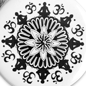 Om Mandala Buttons - Buttons large 56 mm
