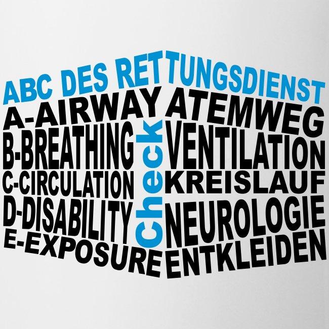 Tasse Rettungsdienst ABC