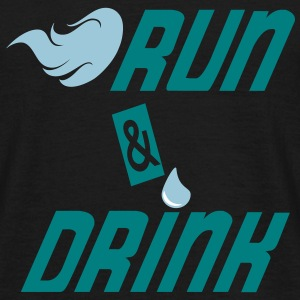 Run and drink T-shirts - Mannen T-shirt