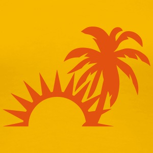 Palm trees sun 1409 T-Shirts - Women's Premium T-Shirt