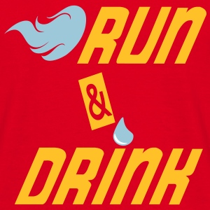 Run and drink Tee shirts - T-shirt Homme