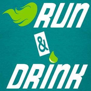 Run and drink T-shirts - T-shirt herr