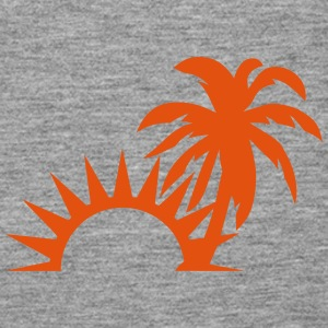 Palm trees sun 1409 Tops - Women's Premium Tank Top