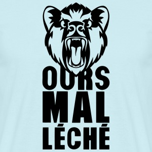 ours mal leche expression citation 0 Tee shirts - T-shirt Homme