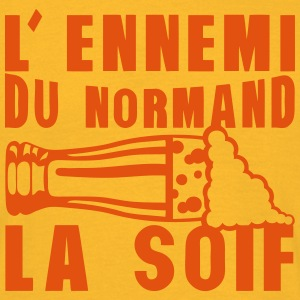 normand ennemi soif biere alcool  humour Tee shirts - T-shirt Homme
