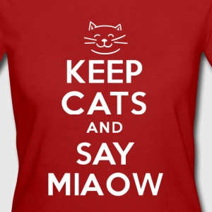 KEEP CATS and SAY MIAOW - Women's Organic T-shirt