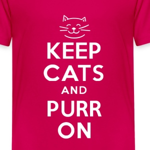 KEEP CATS and PURR ON - Kids' Premium T-Shirt