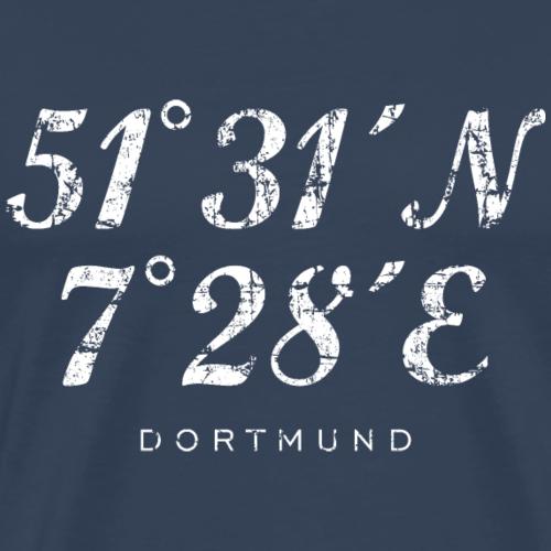 Dortmund Koordinaten Vintage Weiß