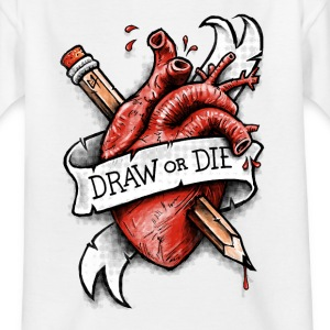 Weiß Draw or die T-Shirts - Kinder T-Shirt
