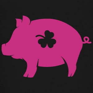 little pig with shamrock Shirts - Teenage Premium T-Shirt