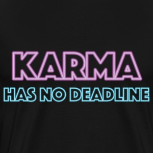 Karma has no deadline T-skjorter - Premium T-skjorte for menn