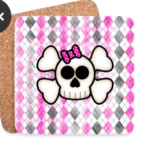 Kawaii Skull & Crossbones Coasters - Coasters (set of 4)