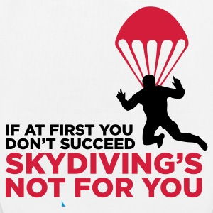 Skydiving is not for the unlucky ones. Bags & Backpacks - EarthPositive Tote Bag
