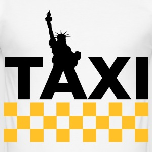 New York Taxi Tee shirts - Tee shirt près du corps Homme