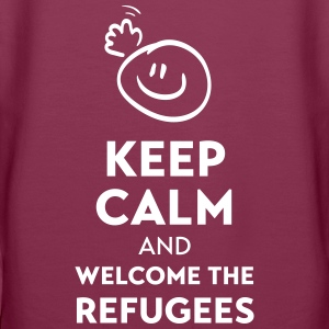 Keep calm and welcome the Refugees Hoodie - Frauen Premium Hoodie