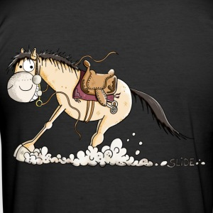Funny Slide Horse Tee shirts - Tee shirt près du corps Homme