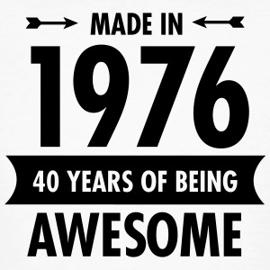 Made in 1976 - 40 Years Of Being Awesome Camisetas - Camiseta ecológica hombre