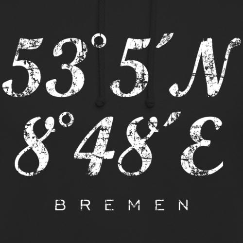 Bremen Koordinaten Vintage Weiß