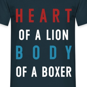 Heart of a Lion Navy Tee - Men's T-Shirt