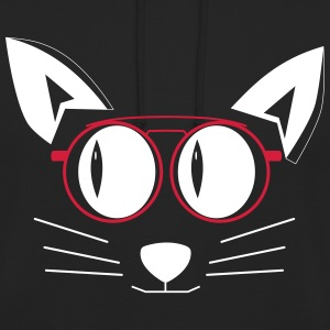 Cat with glasses hoodie - Unisex Hoodie