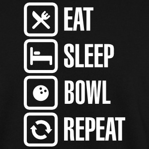Eat -  sleep - bowl - repeat Pullover & Hoodies - Männer Pullover